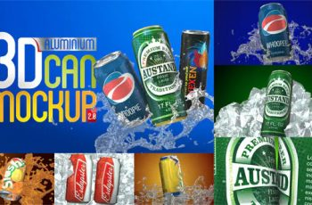 3D Aluminium Pop Top Soda Drink Can - Download Videohive 4032031