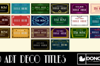 20 Art Deco Titles - Download Videohive 18950301