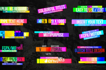 Colourful Glitch Titles 2 - Download Videohive 19828998
