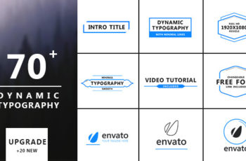 Dynamic Typography - Title Animations - Download Videohive 12577550