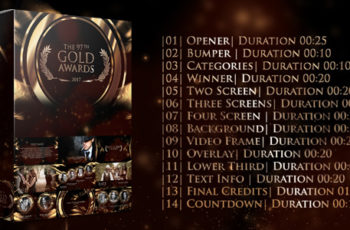 Gold Awards - Download Videohive 20268254