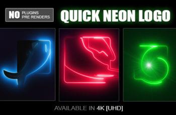 Quick Neon Logo - Download Videohive 19802614