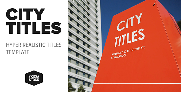 City Titles | Realistic Titles Opener - Download Videohive 20474507