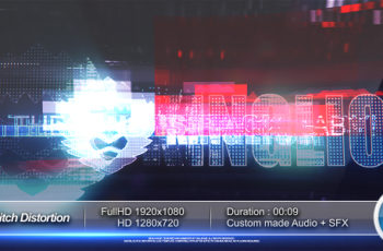 Digital Glitch Distortion Logo Reveal - Download Videohive 20425192