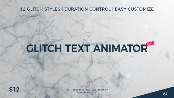Glitch Text Animator PRO - Download Videohive 20591425