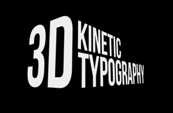 3D Kinetic Typography - Download Videohive 20476937