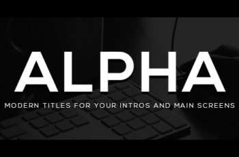 Alpha Titles - Download Videohive 20695760