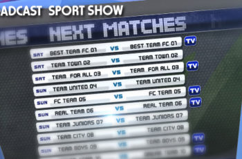 Broadcast Sport Show - Download Videohive 3083003