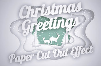 Christmas Greetings - Paper Cut Out - Download Videohive 20948014