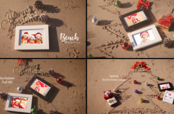 Christmas Photo Frame On Thee Beach - Download Videohive 20891537