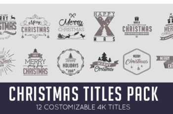 Christmas Titles Pack - Download Videohive 20974428