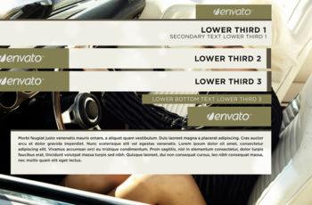Elegant Minimalist Lower Third - Download Videohive 8390366