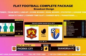 Flat Football Complete Package - Broadcast Design - Download Videohive 19767661