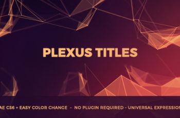 Plexus Titles - Download Videohive 20234095