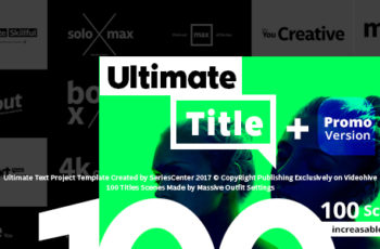 Ultimate Text | 100 Titles Animation - Download Videohive 20871204