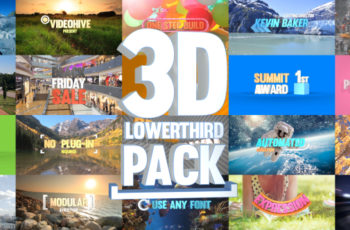 3D Lowerthird Title Pack - Download Videohive 20897214