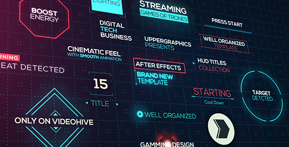 Cinematic HUD Titles - Download Videohive 20928546
