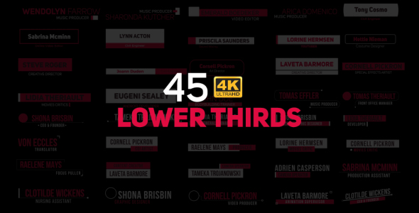 Lower Thirds - Download Videohive 21284671