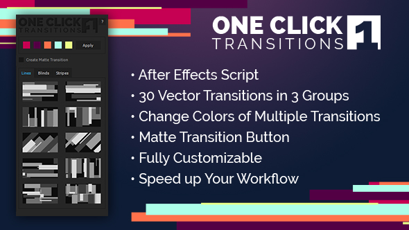 One Click Transitions Vol.1 - Download Videohive 19752559