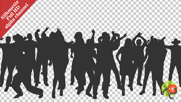 Crowd Of Dancing People In Silhouettes - Download Videohive 15597196