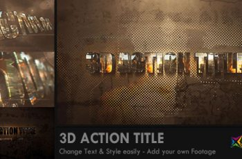 3D Action Title Opener - Download Videohive 7908643