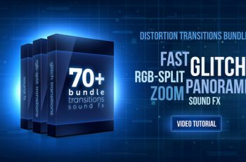 70+ Bundle: Glitch and RGB-split Transitions, Sound FX - Download Videohive 21470574