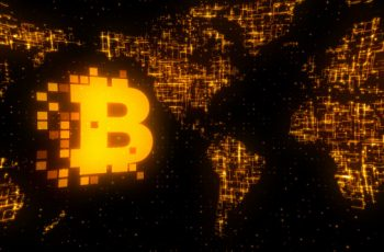 Bitcoin World Map Gold - Download Videohive 17117474