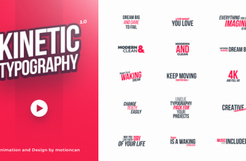 Kinetic Typography - Download Videohive 20578796