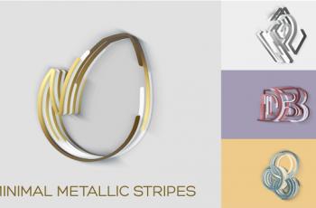 Minimal Metallic Stripes Reveals - Download Videohive 20766995