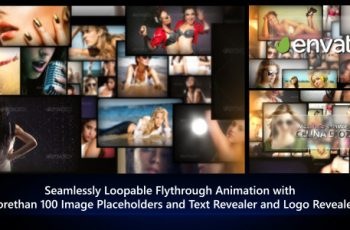 Photos Galaxy - Loopable Flythrough Animation - Download Videohive 8192453