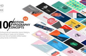 100 Motion Typography Concepts v2 - Download Videohive 21141394