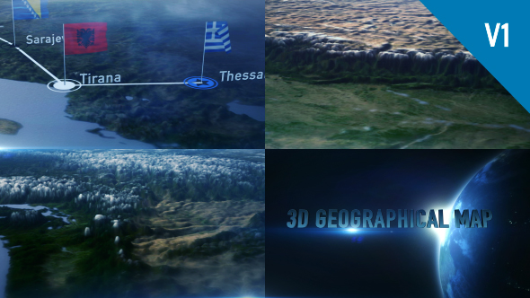 3D Geographical Map - Download Videohive 19114981