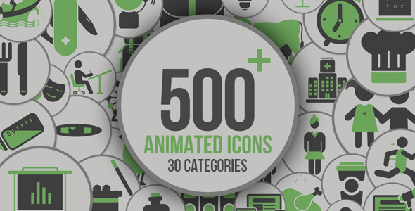Animated Icons 500+ - Download Videohive 21005179