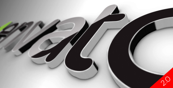 Black Classic 3D Logo - Download Videohive 519447