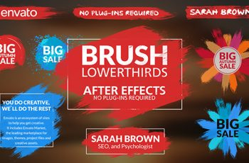 Brush Lower Thirds - Download Videohive 17843408