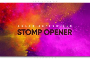 Color Explosions Stomp Opener - Download Videohive 21842558