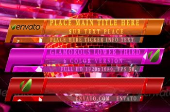 Glamoruos Lower Third - Download Videohive 12963493