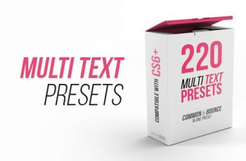 Multi Text Presets - Download Videohive 21555457