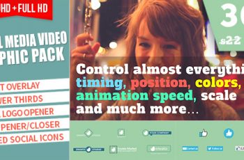Social Media Video Graphic Pack - Download Videohive 19300014