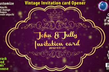 Vintage Invitation Card - Download Videohive 2255013