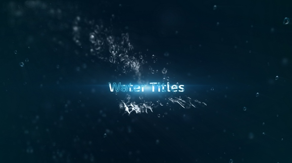 Water Titles - Download Videohive 18458721