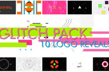 10 Glitch Shapes logos - Download Videohive 15688064