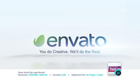 Clean Word Flip Logo Reveal - Download Videohive 21896875