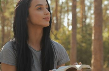 Female Hiker Reads Book At The Forest - Download Videohive 18268920