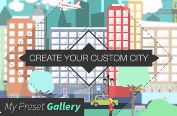 Flat City Vector City with Buildings, Pedestrians, Cars, Planes... in Flat Design - Download Videohive 16075205