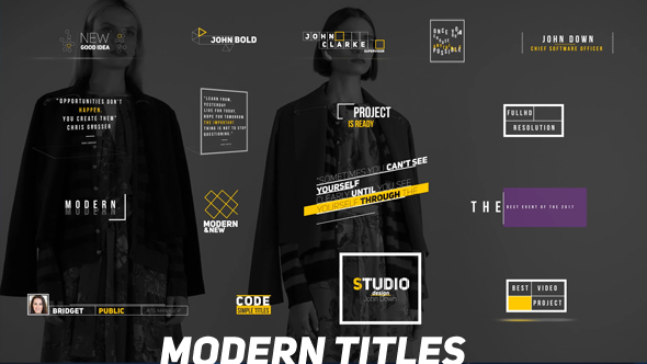Modern Titles - Download Videohive 20937433
