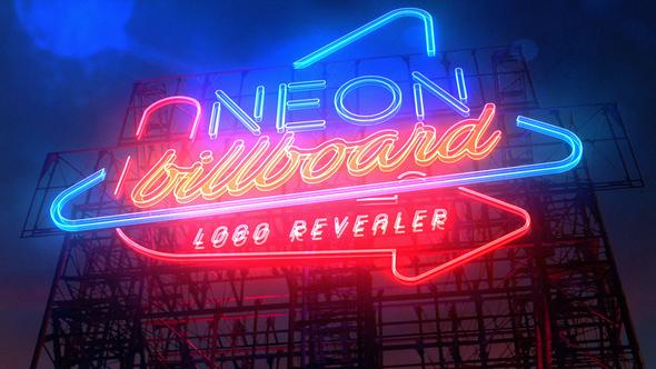 Neon Billboard Logo Revealer - Download Videohive 21763750
