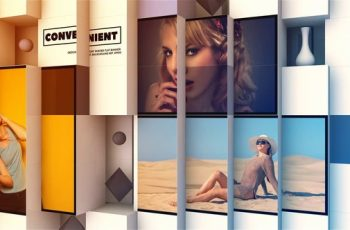 3D Abstract Cube Display - Download Videohive 21831977