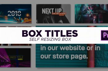 Box Titles - Self Resizing - Download Videohive 21974427