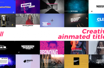 Creative Animated Titles - Download Videohive 21373674